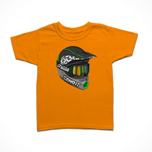 Little Rider Co Kids T-Shirt - Full Face Lid