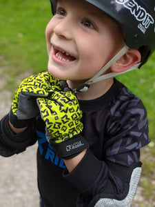 Little Rider Co Kids Bike Gloves - Classic Tech Series - ORANGE BLAST