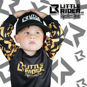 Little Rider Co Signature Series Jersey - BLACK & GOLD