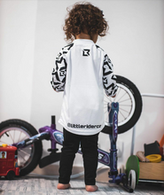 Load image into Gallery viewer, Little Rider Co Balance Series Jersey - 'STORM TROOPER WHITE'