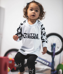 Little Rider Co Balance Series Jersey - 'STORM TROOPER WHITE'