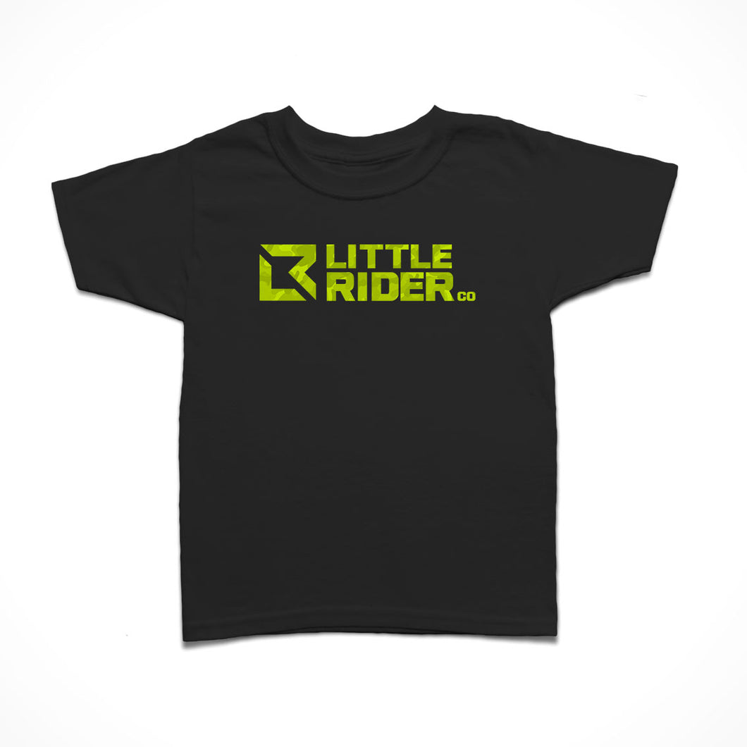 Little Rider Co Kids T-Shirt - Limey Camo Logo - LIMITED EDITION