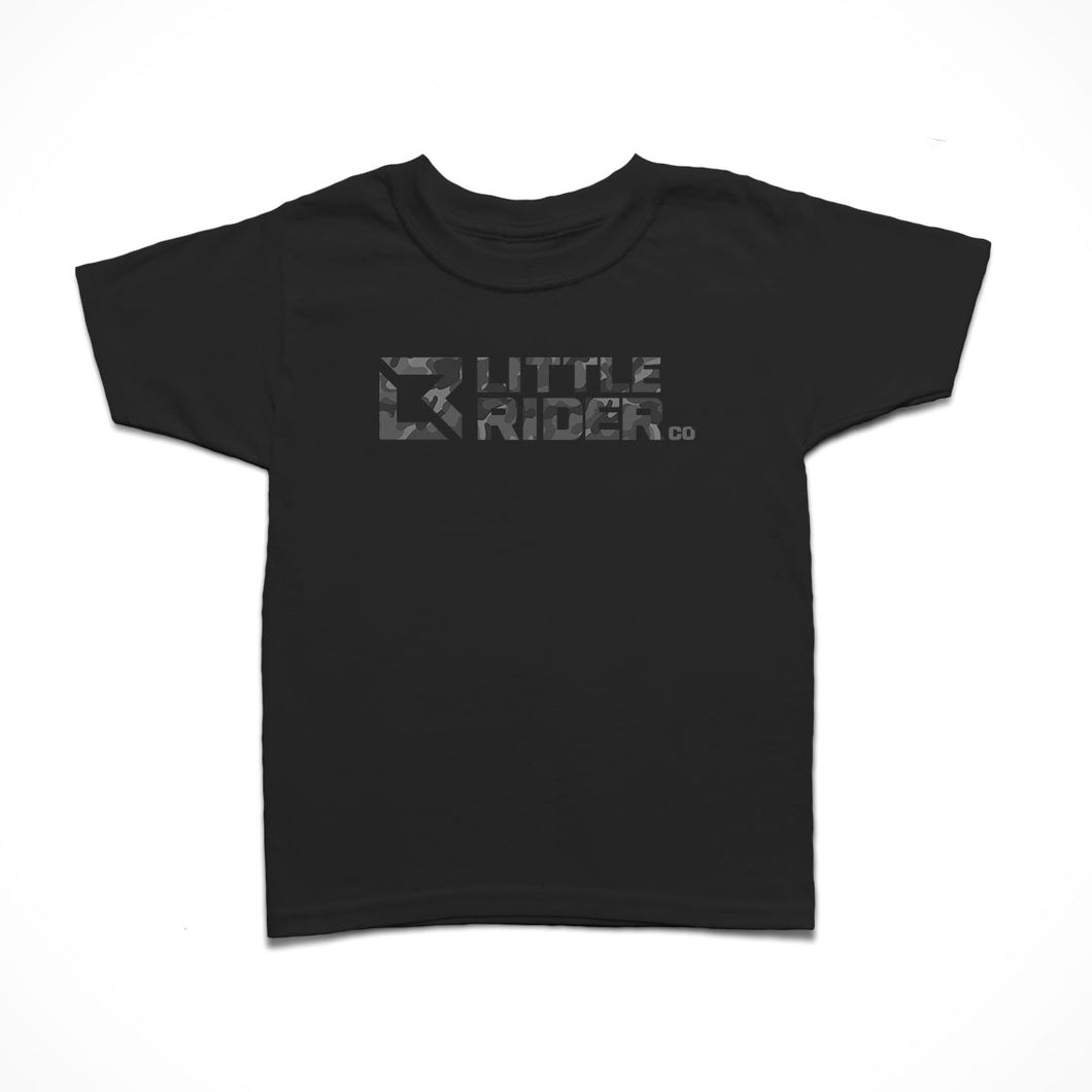 Little Rider Co Kids T-Shirt - Stealth Camo Logo - LIMITED EDITION