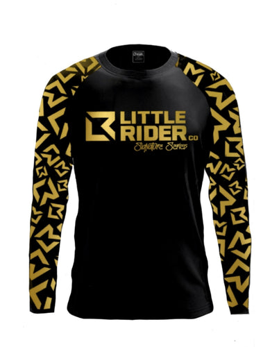 Little Rider Co Signature Series Jersey - BLACK & GOLD (END OF LINE)