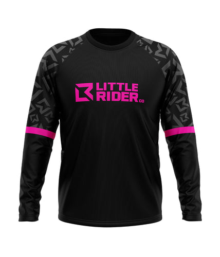 Little Rider Co 'SEND IT' Jersey - HOT PINK