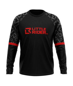 Little Rider Co 'SEND IT' Jersey - Dark DEVIL RED (END OF LINE)