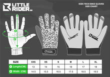 Load image into Gallery viewer, Little Rider Co Kids Bike Gloves - Classic Tech Series - ORANGE BLAST