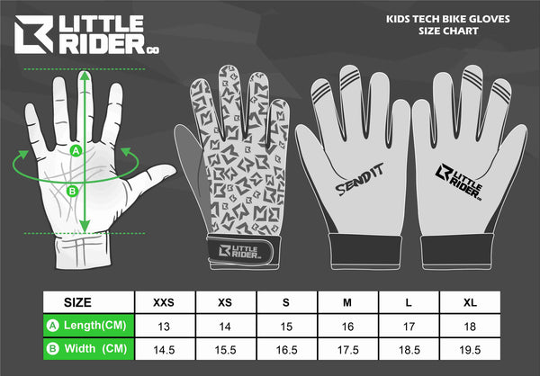 Little Rider Co Kids Bike Gloves - Classic Tech Series - LIMEY