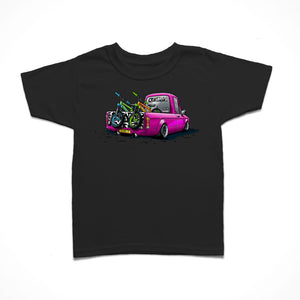 Little Rider Co Kids T-Shirt - Hot Pink Team Truck