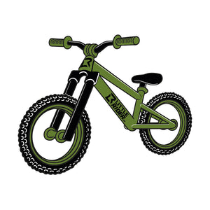 LITTLE RIDER CO 'Concept Balance' Bike Sticker - Army Green