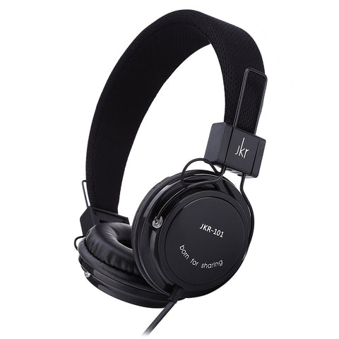 JKR 101 Mic Control Wired Stereo HiFi Music Headset Headphones