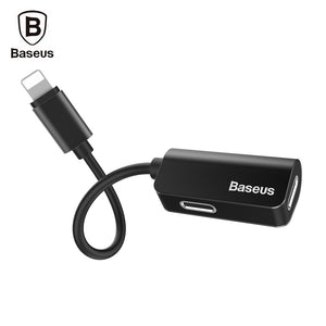 Baseus L37 Male to Dual Female 8 Pin Audio Charging Adapter
