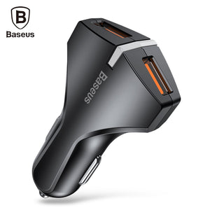 Baseus QC 3.0 True Dual USB Ports Quick Car Charger