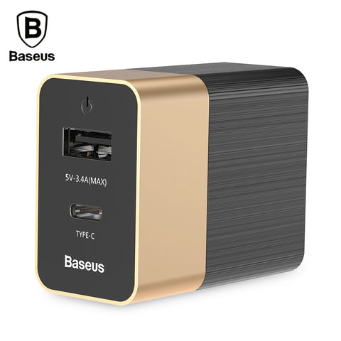Baseus Duke Type-C PD USB Dual Output Travel Charger