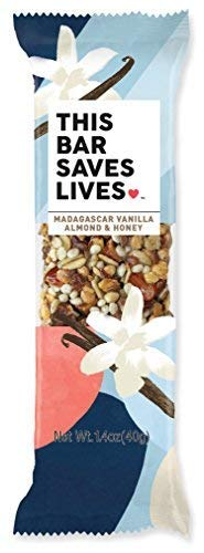 This Bar Saves Lives Madagascar Vanilla, Almond & Honey Bars, 1.4 oz, 12 bars