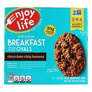 Enjoy Life Chocolate Chip Banana Breakfast Ovals - 5 Bars