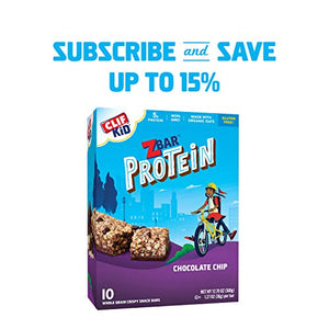 Clif Bar Z Bar Protein Chocoalte Chip Bars 1.27 Ounce Bar, 10 Count