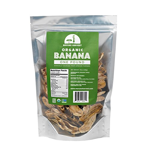 Mavuno Harvest Direct Trade Organic Dried Fruit, Banana,