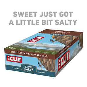 Clif Bar Chocolate Chunk & Sea Salt Bars, 12 Count