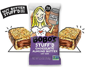 Bobo's Oat Bars Chocolate Almond Butter Filled Oat Bars, 12 Pack of 2.5 oz Bars