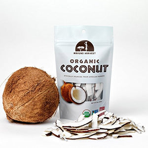 Mavuno Harvest Fair Trade Gluten Free Organic Dried Fruit, Coconut, 6 Count