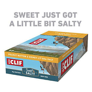 Clif Bar Peanut Butter, Honey & Sea Salt Bars, 12 Count