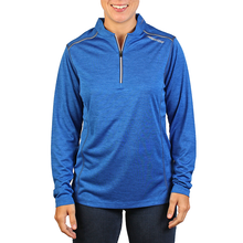 Load image into Gallery viewer, Women's Royal 1/4 Zip Performance Pullover- PRG1275