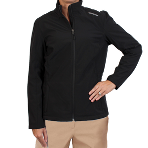 Fitted Cinch-waist Soft Shell Jacket