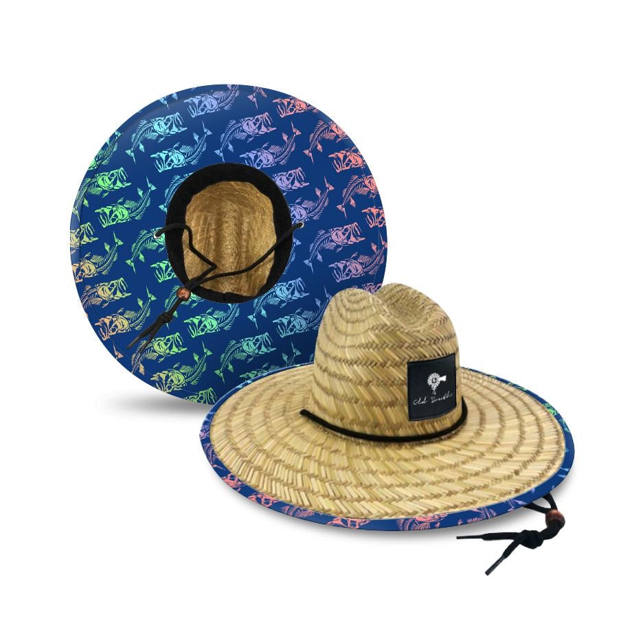 Old South Skully Colored Straw Hat
