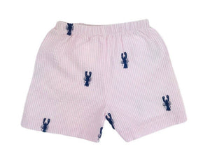 Pink Seersucker Shorts (lobsters)
