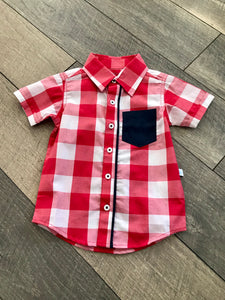 Red Plaid Shirt Size 18-24mo