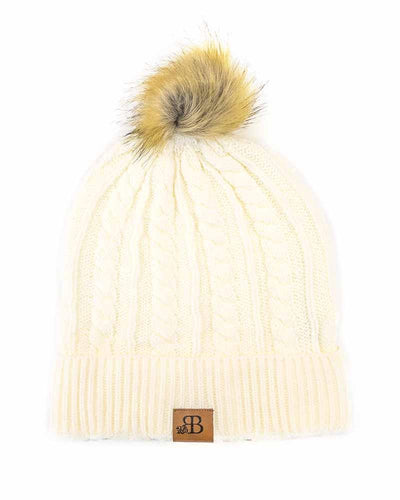 Bailey's Blossoms Cream Beanie