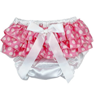 Pink Polk A Dot Satin Bloomer