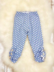 Blue Polka-dot Leggings