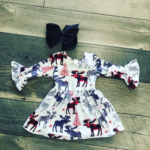Moose Bell Sleeve Dress