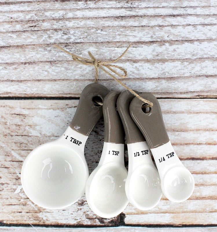 Two-toned Ceramic Measuring Spoons