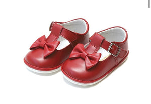 Minnie Bow Leather Mary Jane {multiple colors}
