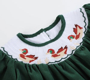 Duck Smocked Dress
