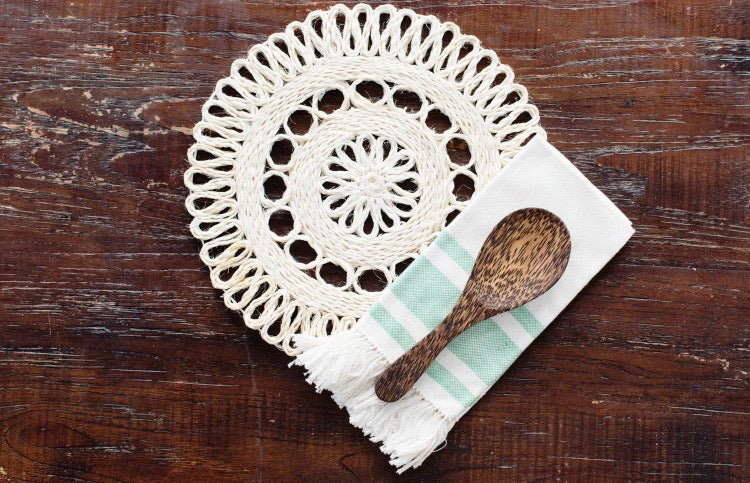 "10"" Hand Woven Placemat Set {set of 2}"