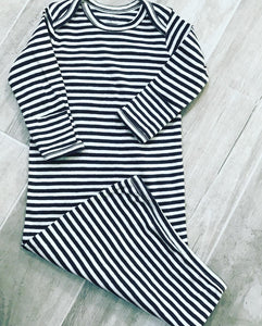 Striped Baby Gown