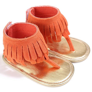 Fringe Sandals Copper