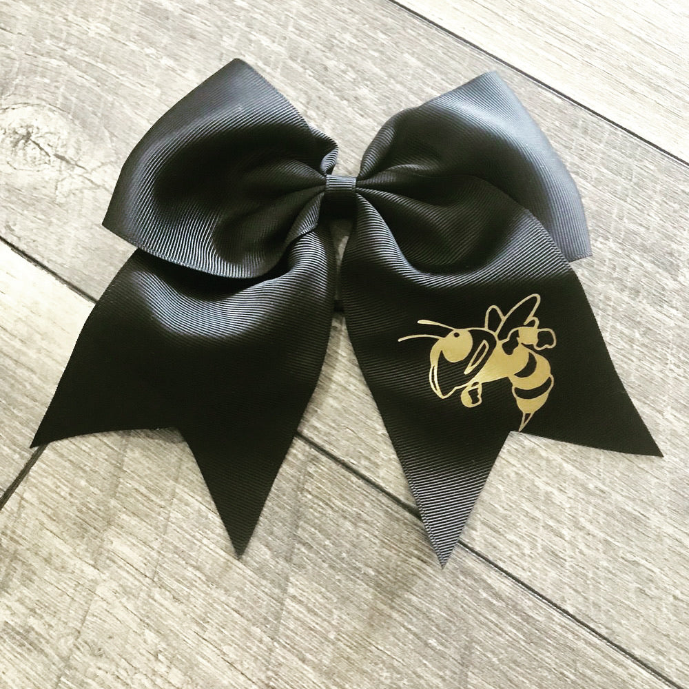"Black 8"" Cheer Bow-Jackets"