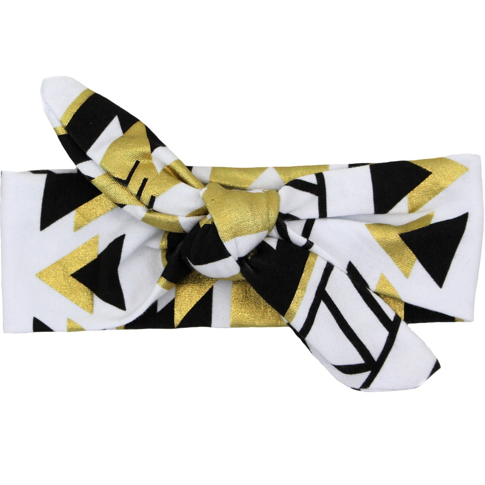 Black/Gold Aztec Knot Headband