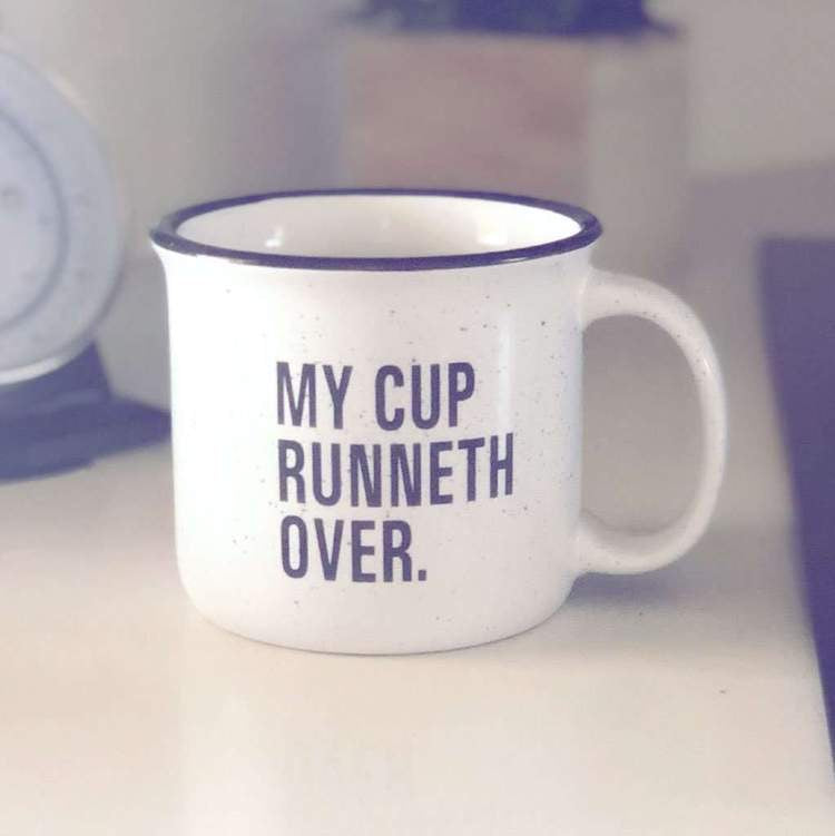 My Cup Runneth Over Mug {set of 4}