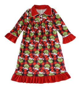 Grinch Pajama Gown