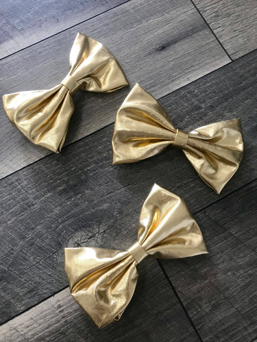 "6 1/2"" Gold Metallic Bow"