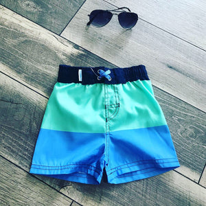 Mint & Blue Swim Trunks