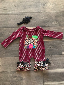 Cheetah Pumpkin Romper