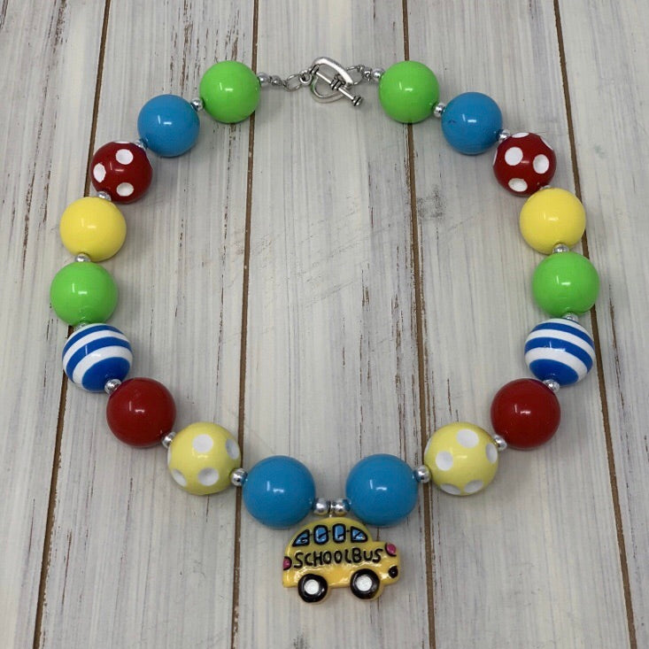 School Bus Necklace