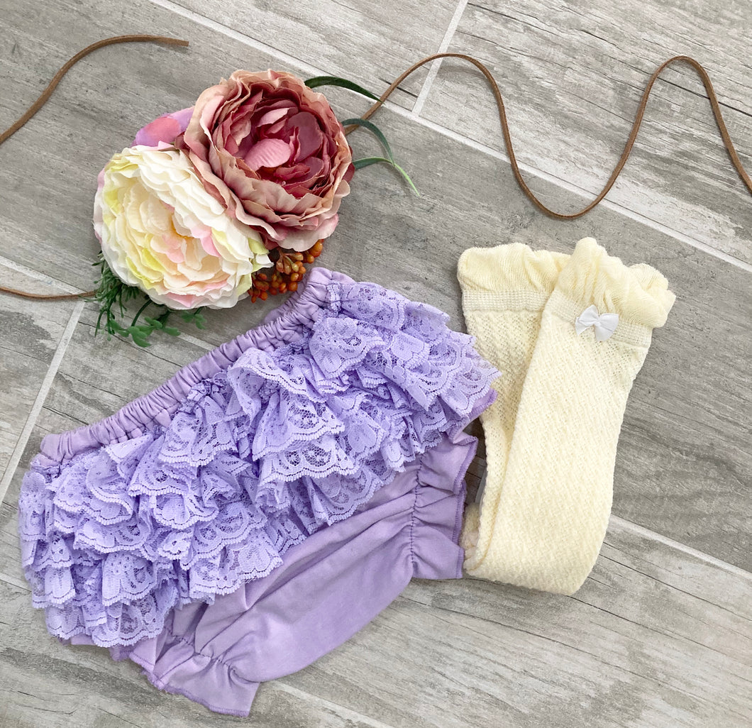 Lavender & Purple Lace Bloomer